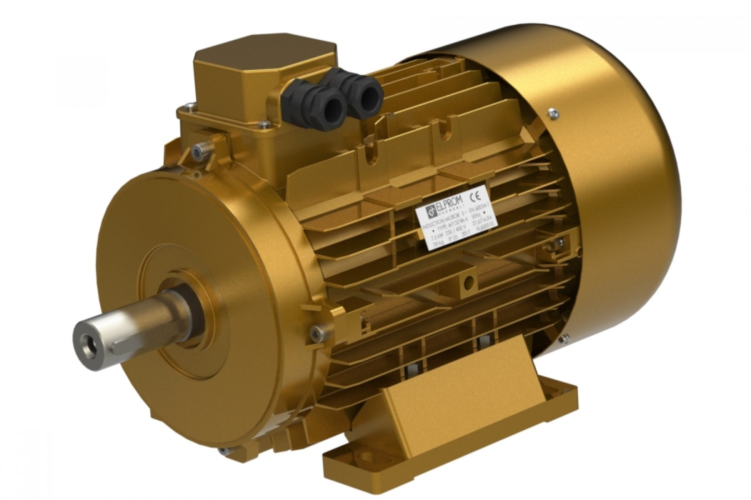 Three-phase electric motor IE2
