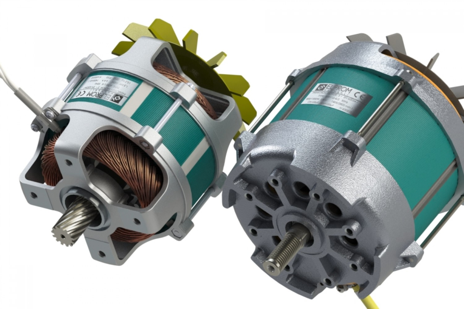 Frameless electric motors